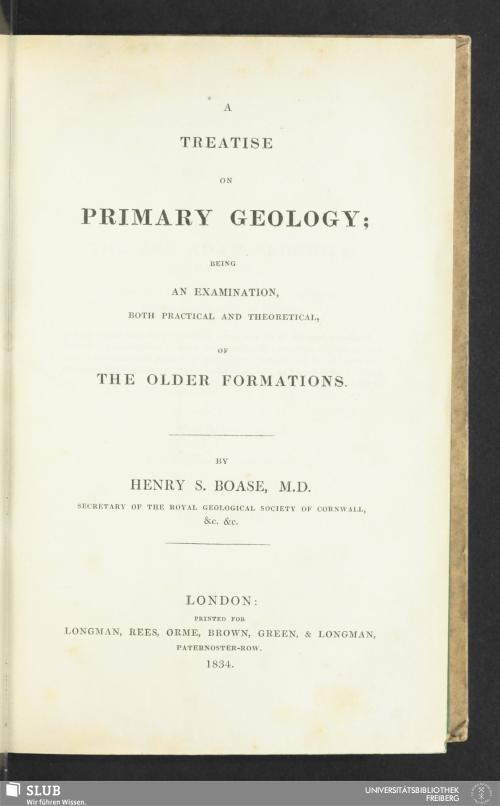 Vorschaubild von A Treatise On Primary Geology
