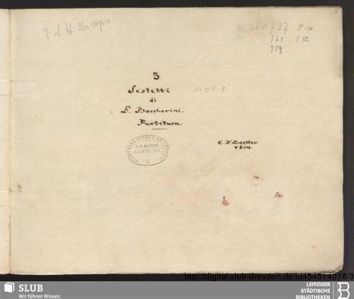 Vorschaubild von 3 Sextets - Becker III.11.30