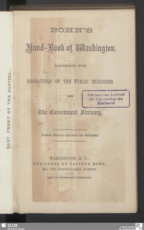 Vorschaubild von Bohn's Hand-Book of Washington