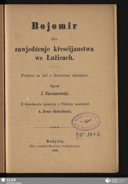 Vorschaubild von Bojomir abo zawjedźenje křesćijanstwa we Łužicach
