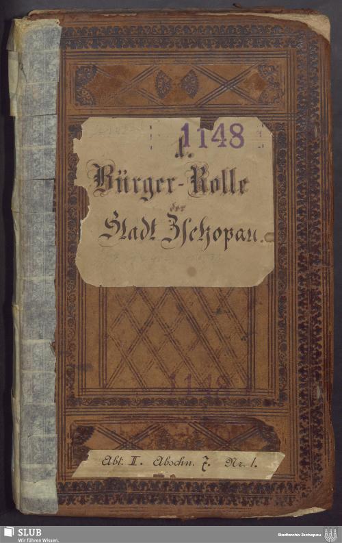 Vorschaubild von Bürgerrolle der Stadt Zschopau - 1148