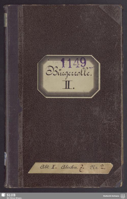 Vorschaubild von Bürgerrolle II - 1149