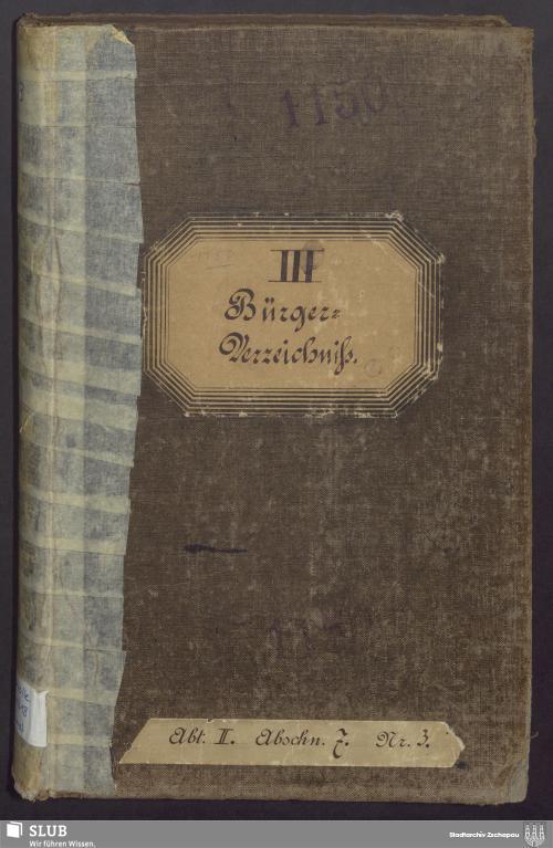 Vorschaubild von Bürgerverzeichnis III - 1150
