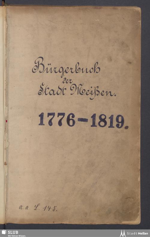 Vorschaubild von 1776-1819 - Rep. I, L 145