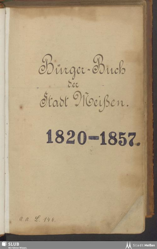 Vorschaubild von 1820-1857 - Rep. I, L 146
