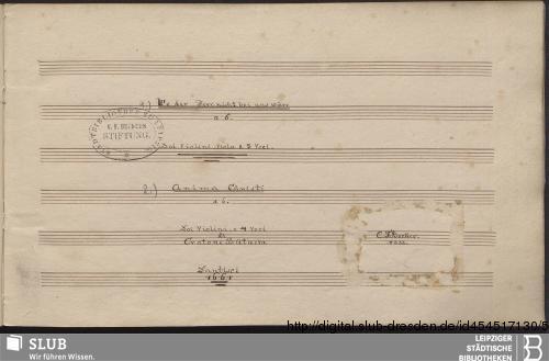 Vorschaubild von 2 Sacred songs - Becker III.2.194