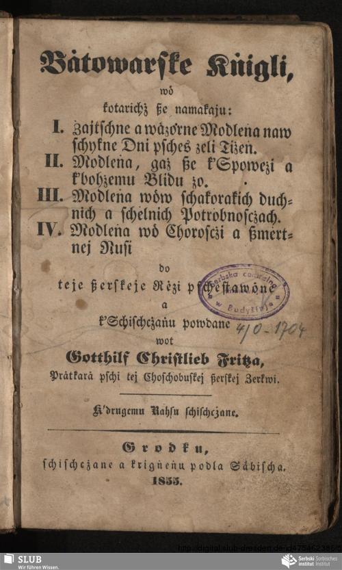 Vorschaubild von Bȧtowarske Kṅigli, wȯ kotarichż ße namakaju