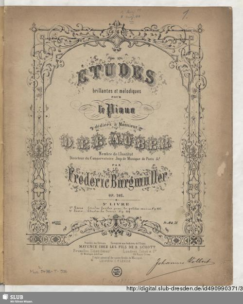 Vorschaubild von Études brillantes et mélodiques pour le Piano