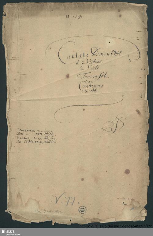 Vorschaubild von Cantate Domino canticum novum - Mus.2-E-565