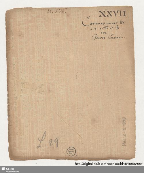 Vorschaubild von Cantemus omnes - Mus.2-E-505