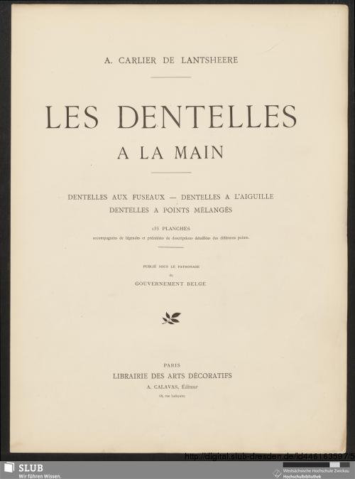 Vorschaubild von Les dentelles à la main