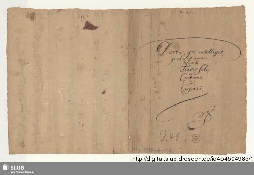 Vorschaubild von Beatus qui intelligit quid sit amare Jesum - Mus.1733-E-506