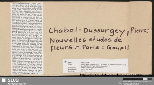 Vorschaubild von Nouvelles études de fleurs