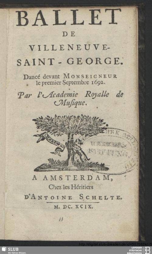Vorschaubild von Ballet De Villeneuve-Saint-George
