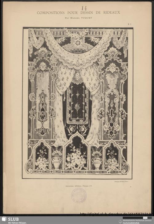 Vorschaubild von Compositions pour dessin de rideaux