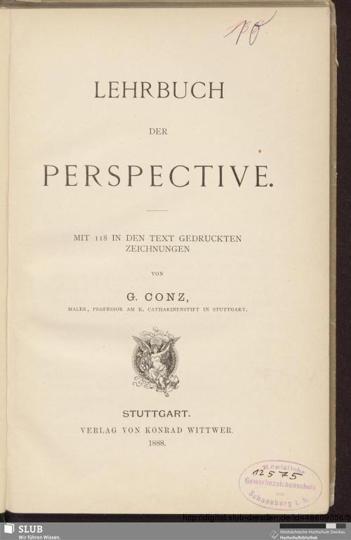 Vorschaubild von Lehrbuch der Perspective