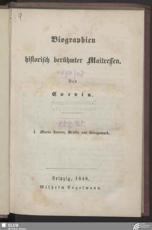 Vorschaubild von Maria Aurora, Gräfin von Königsmarck