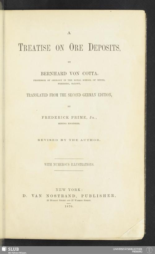 Vorschaubild von A treatise on ore deposits
