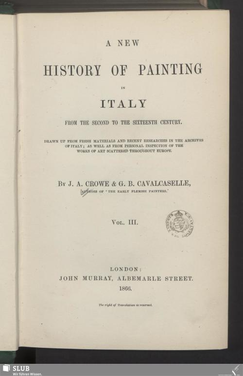 Vorschaubild von [A new history of painting in Italy]