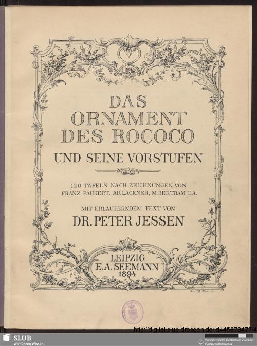 Vorschaubild von Das Ornament des Rococo und seine Vorstufen
