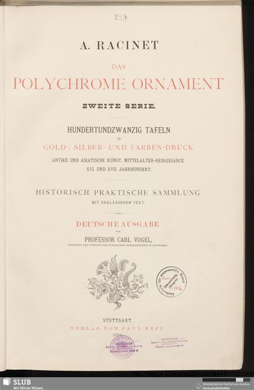 Vorschaubild von 120 Tafeln in Gold-, Silber- und Farbendruck