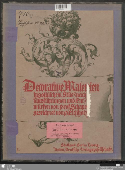 Vorschaubild von Decorative Malereien in gothischem Stile nach Ausführungen und Entwürfen von Prof. Schaper, gezeichnet von P. Eichholz