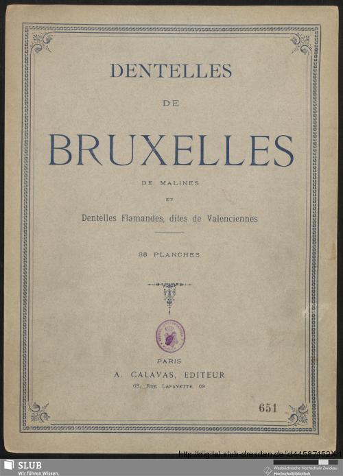 Vorschaubild von Dentelles De Bruxelles De Malines Et Dentelles Flamandes, dites de Valenciennes