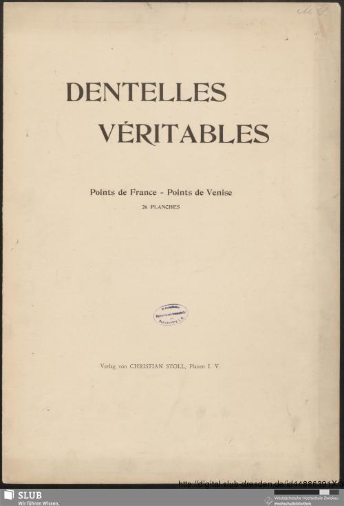 Vorschaubild von Dentelles Véritables