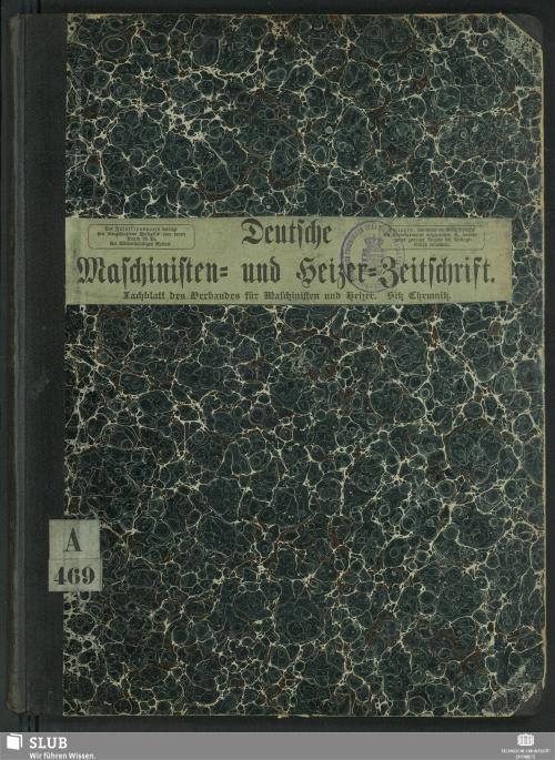Vorschaubild von [Deutsche Maschinisten- und Heizer-Zeitschrift]