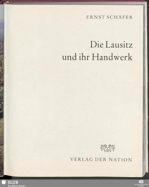Vorschaubild von Die Lausitz und ihr Handwerk