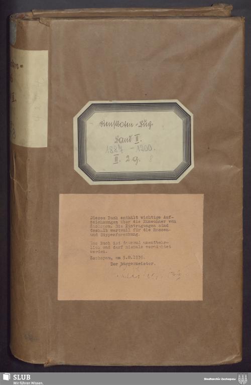 Vorschaubild von Dienstbotenbuch - 4204