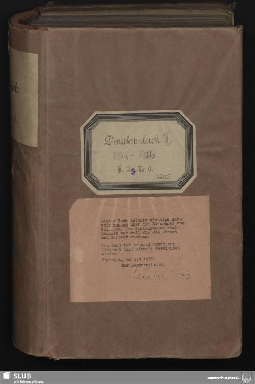 Vorschaubild von Dienstbotenbuch - 4205