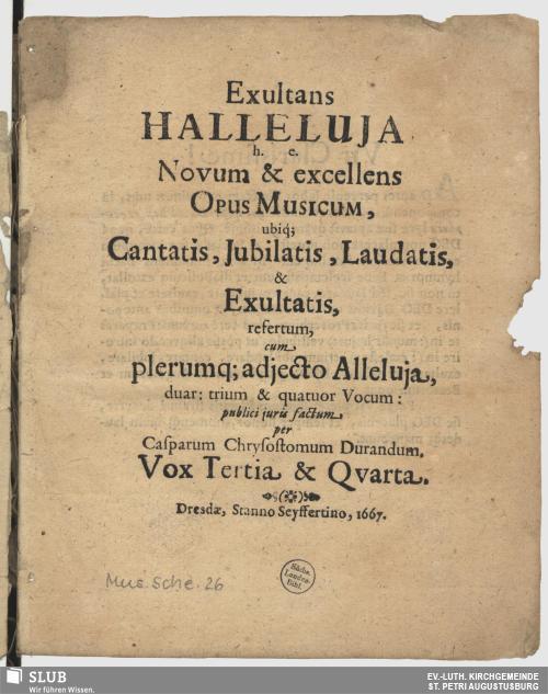 Vorschaubild von Exultans Halleluja