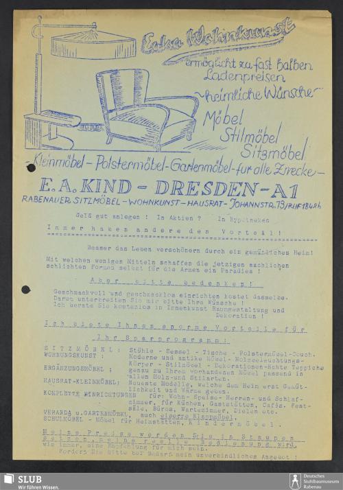 Vorschaubild von Eaka Wohnkunst, E.A. Kind, Dresden-A.