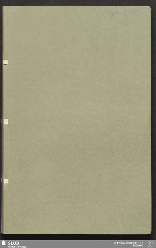 Vorschaubild von Aufstellung geognostischer und bergmännischer Erfahrungen und Beobachtungen über Gegend und Bergbau von Saalfeld - 18.6778 4.