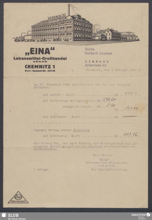 """Vorschaubild von """"EINA"""" Lebensmittel-Großhandel e.G.m.b.H., Chemnitz"""