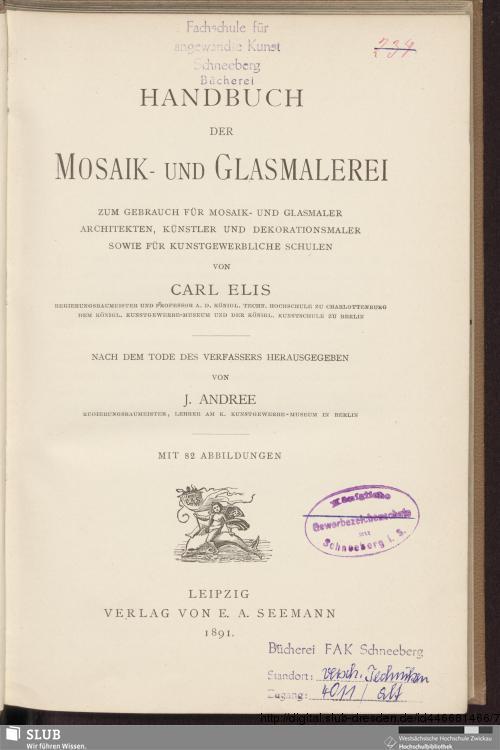 Vorschaubild von Handbuch der Mosaik- und Glasmalerei