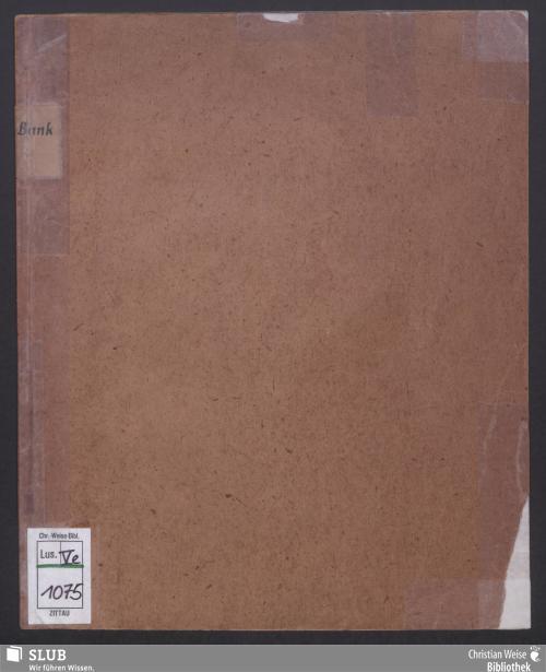 Vorschaubild von Entwurf der Statuten der landständischen Bank