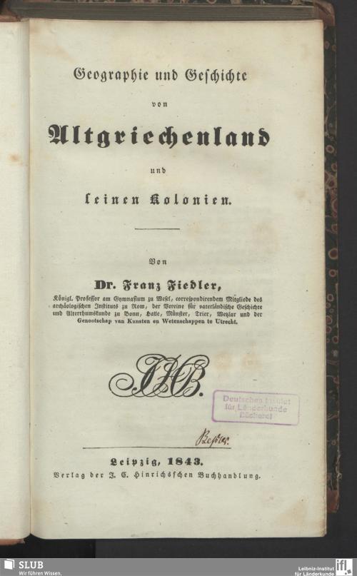 Vorschaubild von Geographie und Geschichte von Altgriechenland und seinen Kolonien