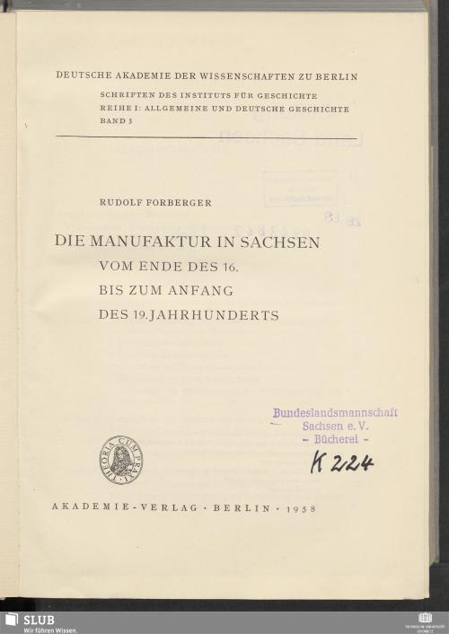 Vorschaubild von Die Manufaktur in Sachsen