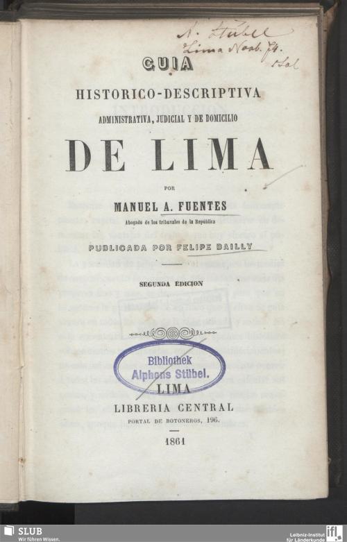 Vorschaubild von Guia historico-descriptiva administrativa, judicial y de domicilio de Lima