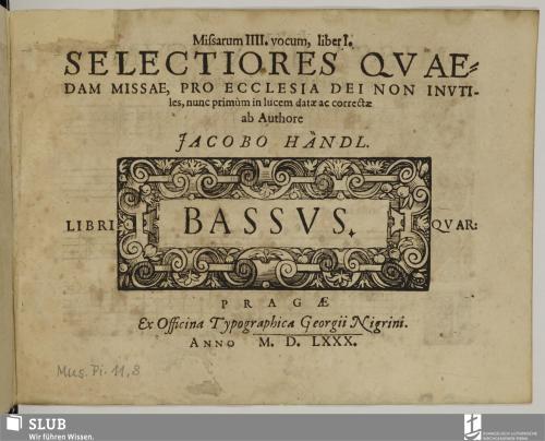 Vorschaubild von Missarum IIII. vocum, liber I.