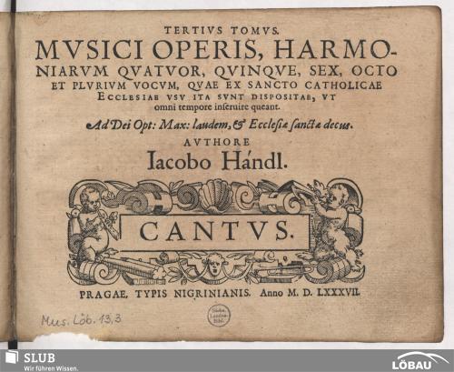 Vorschaubild von Tertius tomus musici operis, harmoniarum