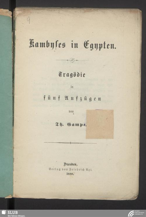 Vorschaubild von Kambyses in Egypten