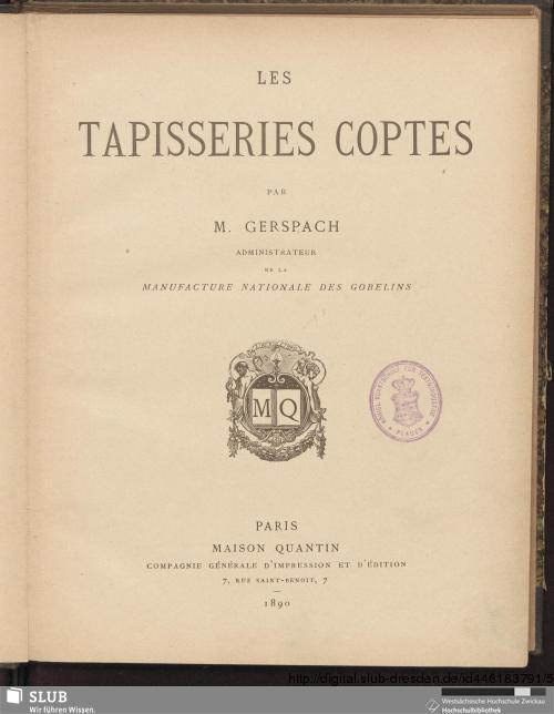 Vorschaubild von Les tapisseries coptes