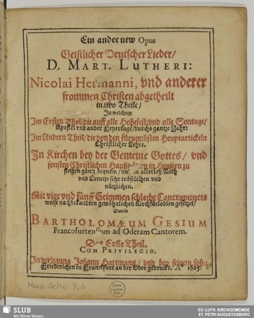 Vorschaubild von Ein ander new Opus Geistlicher Deutscher Lieder