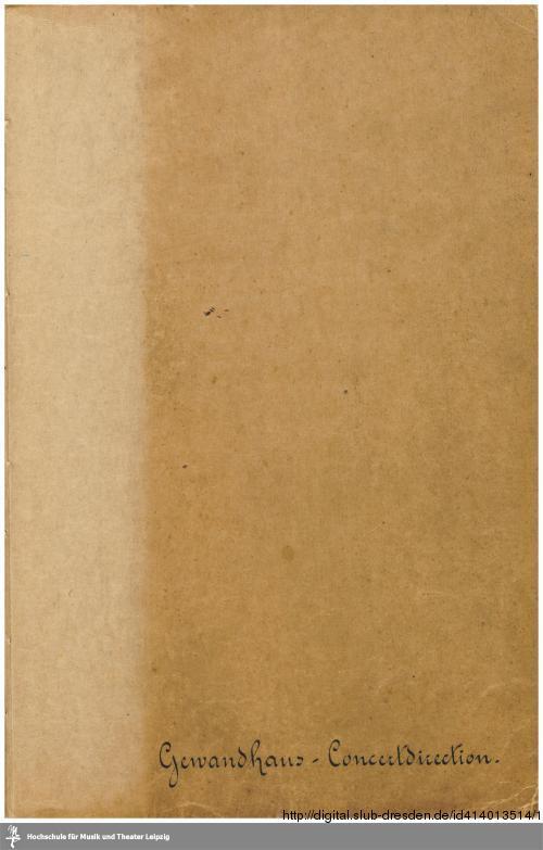 Vorschaubild von Gewandhaus-Concertdirection