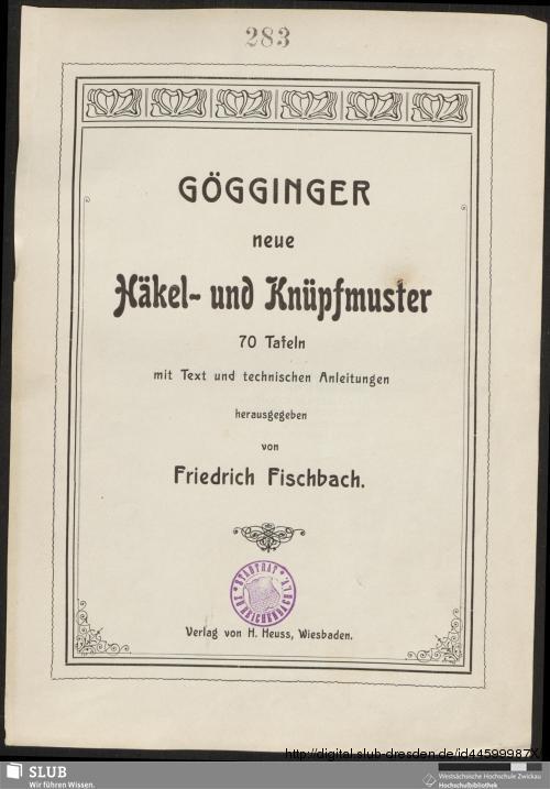 Vorschaubild von Gögginger neue Häkel- und Knüpfmuster