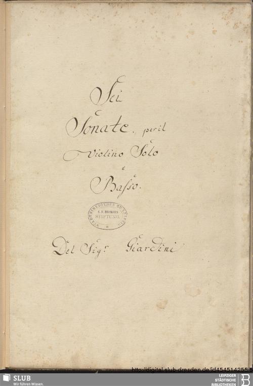 Vorschaubild von 6 Sonatas - Becker III.11.34