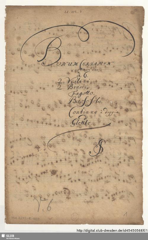 Vorschaubild von Bonum certamen certavi - Mus.2242-E-502